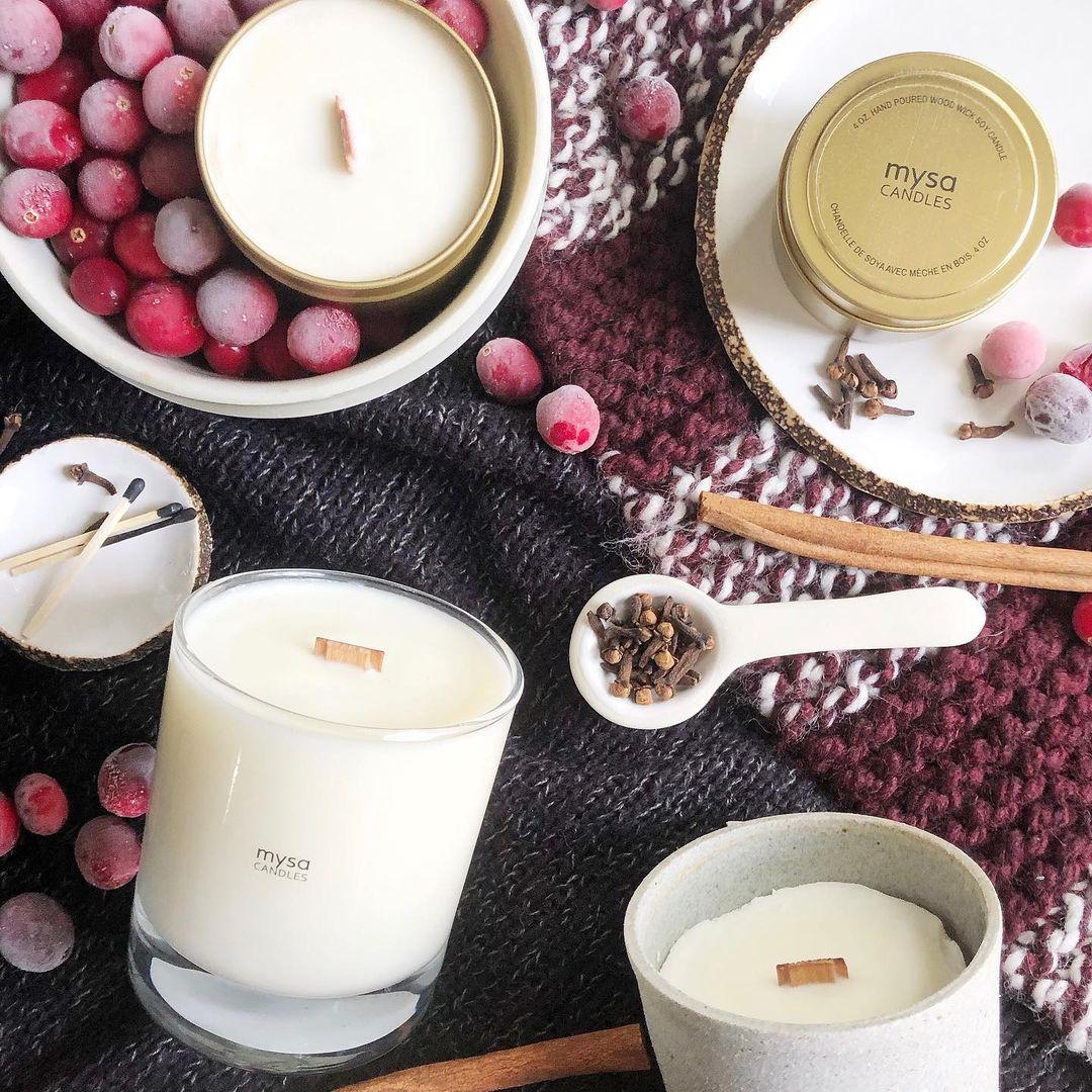 gift basket mysa candles